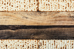 Jewish matza on Passover Stock Images