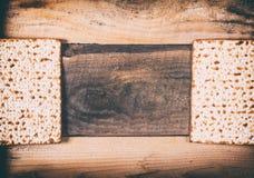 Jewish matza on Passover Stock Photography