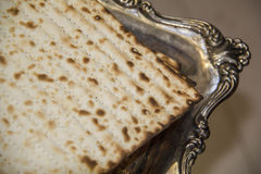 Jewish Matzah - CloseUp Royalty Free Stock Image
