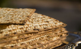Jewish matzoh Royalty Free Stock Photo