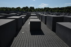 The jewish memorial in Berlin Stock Photo