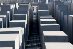 The jewish memorial in central berlin Royalty Free Stock Images