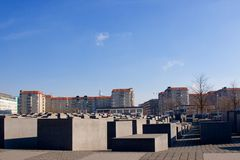 The jewish memorial in central berlin Stock Photo