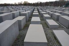 Jewish Memorial In Berlin Germany. The jewish memorial in the centre of Berlin in Germany with its grey modern blocks royalty free stock photo