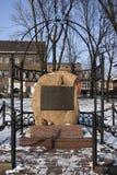 Jewish Memorial - Krakow - Poland. Jewish memorial stone in Szeroka Square in the Kazimierz district of Krakow in Poland Stock Photography