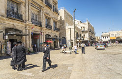 Jewish men in jerusalem old town israel Stock Photography
