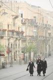 Jewish Men during Sand Storm, Jerusalem Stock Image
