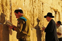 Jewish men praying Stock Image
