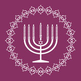 Jewish menorah holiday vector background Royalty Free Stock Photo