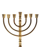 Jewish menorah on white Stock Photography