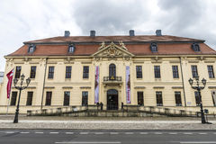 Jewish Museum in Berlin, Germany. Berlin, Germany - April 14, 2017: Facade of Jewish Museum in Berlin, Germany on April 14, 2017 stock image