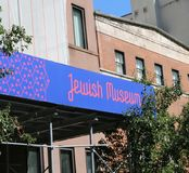 The Jewish Museum. Is located at 1109 Fifth Avenue, in the former Felix M. Warburg House, along the Museum Mile in the Upper East Side of Manhattan, New York Royalty Free Stock Images