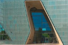 POLIN Museum. Main entrance and a façade of the new building of the Museum of the History of Polish Jews, Warsaw, Poland. The Museum is located in Warsaw stock photos