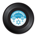 Jewish music vinyl record Royalty Free Stock Photo