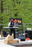 Jewish musician. At Lag B'Omer celebration  in Earl Bales Park in May 18, 2014 in Toronto, Canada Royalty Free Stock Photos