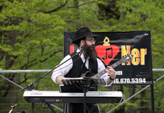 Jewish musician. At Lag B'Omer celebration  in Earl Bales Park in May 18, 2014 in Toronto, Canada Royalty Free Stock Image