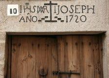 Jewish neighborhood door Stock Photo