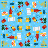 Jewish new year holiday seamless pattern for Rosh Hashanah  Royalty Free Stock Photos