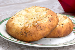 Jewish onion bread - Pletzel Royalty Free Stock Photos