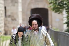 Jewish orthodox man and woman Royalty Free Stock Photos