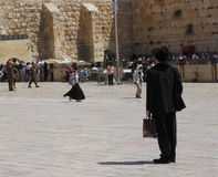 Jewish orthodox men Near the Wailing Wall Royalty Free Stock Image