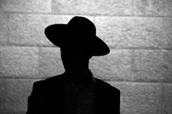 Jewish orthodox silhouette Stock Images