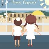 Jewish passover greetings vector vector illustration