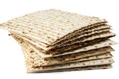 Matzo. Jewish passover matzo on white background Royalty Free Stock Photo