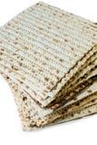 Matzo. Jewish passover matzo on white background Stock Photography