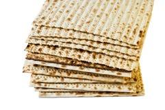 Matzo. Jewish passover matzo on white background Royalty Free Stock Photos
