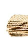 Matzo. Jewish passover matzo on white background Stock Photo