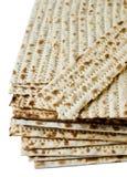 Matzo. Jewish passover matzo on white background Stock Photos