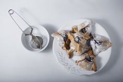 Jewish Pastry Hamantaschen. On a table for Purim Holiday Stock Images
