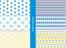 Jewish pattern. Set of seamless jewish patterns Royalty Free Stock Photo