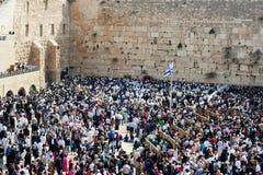 Jewish Pesach (Passover) celebration. JERUSALEM - APRIL 05: The Jewish Pesach (Passover) celebrationl on April 05 2007. More than a thousand of orthodox Stock Photo