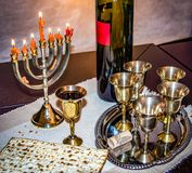 Jewish Pesach. Passover. Traditional festive table for the Jewish Easter Royalty Free Stock Photos