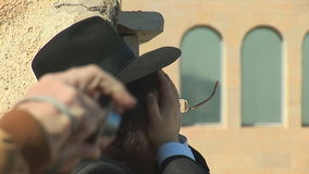 Jewish prayer stock video footage