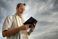 Jewish Prayer. Jewish man performing his morning prayers Royalty Free Stock Image