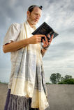 Jewish Prayer. Jewish man performing his morning prayers royalty free stock photo
