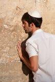 Jewish Prayer at Western Wall Stock Images