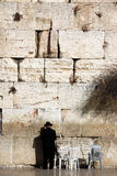 Jewish praying at the wailing wall Royalty Free Stock Photography