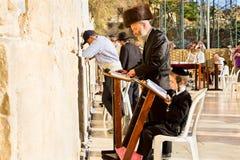 Jewish praying at the western wall Stock Image