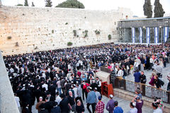 Jewish praying at the western wall Stock Images