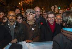 Jewish protest Jean-Luc Mélanchon Stock Photos