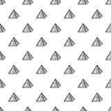 Jewish pyramide pattern seamless vector royalty free illustration