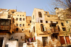 Jewish quarter, Fes, Morocco. Once the biggest Mellah in North-Africa, today mainly ruined houses are in the old Jewish quarter in Fes. Still a big Jewish Royalty Free Stock Photos