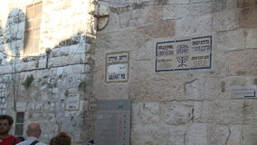 Jewish quarter of Jerusalem stock footage