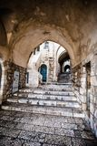 Jewish Quarter Streets on Jerusalem Old City. Royalty Free Stock Image
