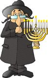 Jewish Rabbi. This illustration that I created depicts a Jewish Rabbi holding a menorah Royalty Free Stock Photos
