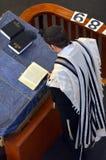 Jewish rabbi read Torah Stock Photos